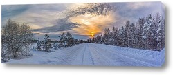 Постер Зимняя дорога