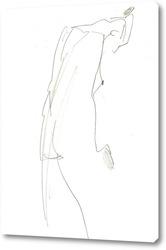 Изображение  женщины в стиле гранж