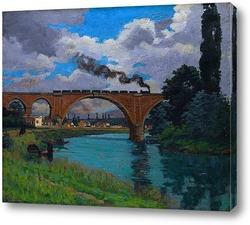 Картина Железнодорожный мост через Марне в Джоинвилле