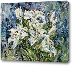 Картина Белых лилий цветы молчаливые...