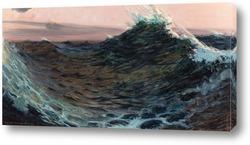 Постер Волны под красным небом