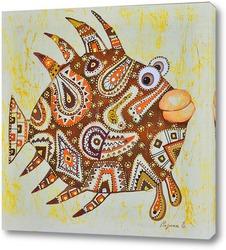 Картина Лоскутная рыбка