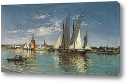Картина Великий парусник из порта Севильи.