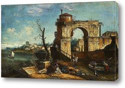 Вид Венеции и Большого канала. Глядя на север с моста Риальто и