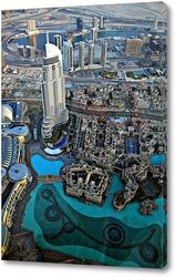 Постер Вид с самого высокого здания в мире «Бурдж-Хали?фа»