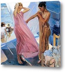 Постер После купания, Валенсия, 1909