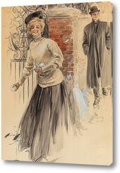 Картина Еще нет - но скоро, календарь, 1907