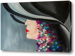 Постер Девушка в шляпе