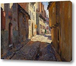 Картина Узкая улица в Риге