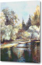 Картина Лесное озеро