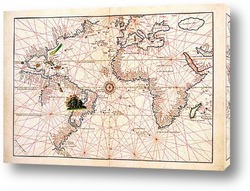 Map of the world on the paper