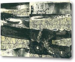 Постер выкройка зимнего пейзажа
