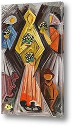 Картина Женщина с цветами