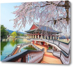 Постер Японский домик