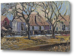 Картина Городская улица, зима, 1913