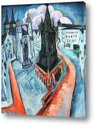 Картина Красная башня Галле