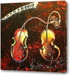 Красная роза и джазовая гитара