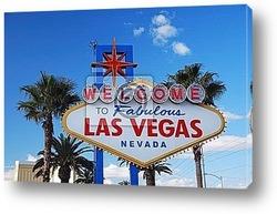 Постер Las Vegas welcome sign
