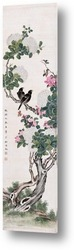 Картина Птицы в настенном свитке