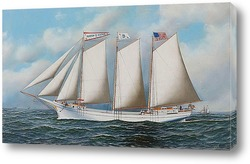 "Американская яхта ""Летающий флаг"" яхт-клуба Нью-Йорка"