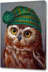 Картина Сова в шапочке