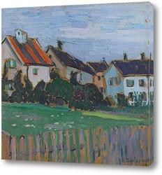 Картина Дома с палисадниками