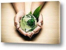 Постер Concept Г©cologie planГЁte terre verte