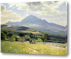 Тосканские холмах и фермерский дом