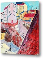Картина Красные крыши, Стокгольм, 1914