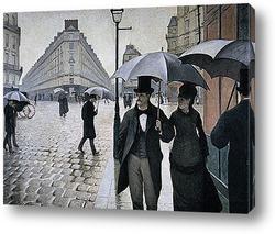 Постер Парижская улица. 1877
