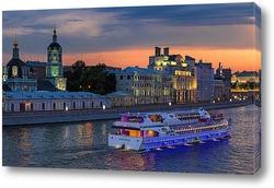 Постер С огнями и песнями по Москва-реке