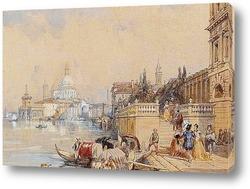 Картина Санта-Мария-делла-Салюте от Св. Маркс, Венеция
