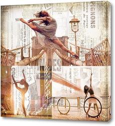 Постер Балерины на улицах Нью-Йорка