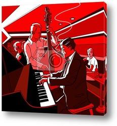Джазовая певица и контрабас