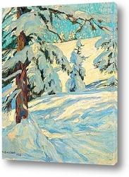 Постер Свежий снег