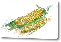 Постер Натюрморт с кукурузой
