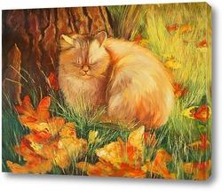 Постер Рыжий кот