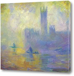 Постер К. Моне Английский парламент.Эффект тумана 1094( авторская копия)
