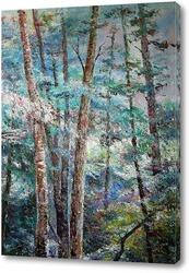 Картина Пейзаж в голубых тонах