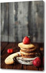 Постер Песочное печенье с клубникой