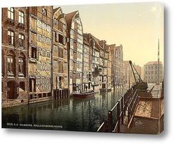 Постер Канал,Гамбург, Германия. 1890-1900 гг
