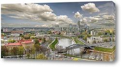 Постер Вильнюс Старый Город панорама
