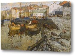 Картина Порт, ранний вечер, 1915