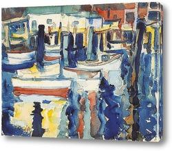 Картина Дома над водой с лодками