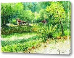 Картина Тропический пейзаж