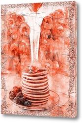 Постер медовые панкейки