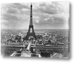 Постер Вид на Всемирную выставку со стороны Сены.