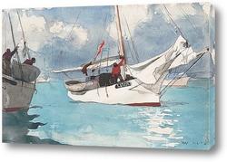 Синяя лодка