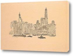 Картина Нью Йорк