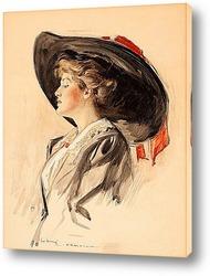 Профиль красивой девушки, 1902